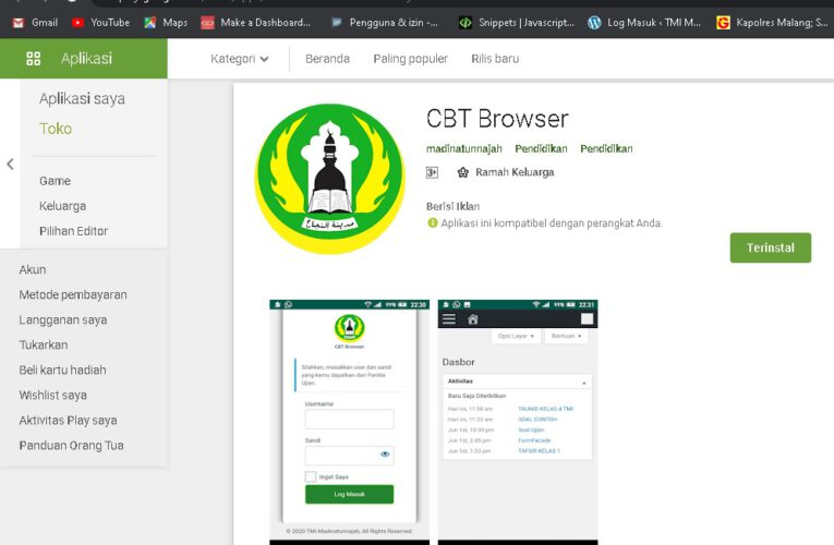 Madinatunnajah Kembangkan CBT Browser Android